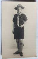 Belle Carte Photo Portrait D'un Jeune Scout De France En Tenue Roland 14 Ans Scoutisme Photographe 40 Rue De Passy Paris - Scoutismo