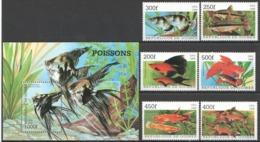 B666 1998 REPUBLIQUE DE GUINEE FISH & MARINE LIFE POISSONS 1BL+1SET MNH - Meereswelt