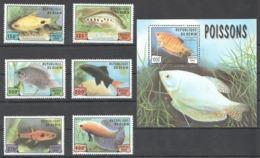 B673 1999 DU BENIN FISH & MARINE LIFE POISSONS 1BL+1SET MNH - Meereswelt