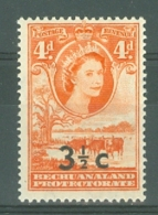 Bechuanaland: 1961   QE II - Pictorial - Surcharge    SG161a   3½c On 4d   [Type I][wide Surcharge]   MNH - Bechuanaland (...-1966)