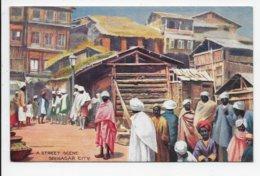 A Street Scene Srinagar City - Tuck Oilette 9311 - India