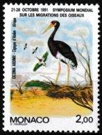 T.-P. Gommé Neuf** - Symposium Mondial Sur La Migration Des Oiseaux Cigogne D'Abdim - N° 1754 (Yvert) - Monaco 1991 - Monaco