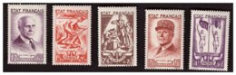 Série N° 576 à 580 Neufs ** - Unused Stamps