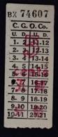 CHINA CHINE CINA SHANGHAI 1940,S Tram Ticket 5 Points National Currency - Strassenbahnen