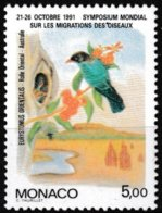 T.-P. Gommé Neuf** - Symposium Mondial Sur La Migration Des Oiseaux Rolle Oriental - N° 1757 (Yvert) - Monaco 1991 - Monaco