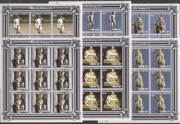YY320 IMPERFORATE 2001 MOZAMBIQUE ART SCULPTURES MICHELANGELO !!! 9SET MNH - Sculpture
