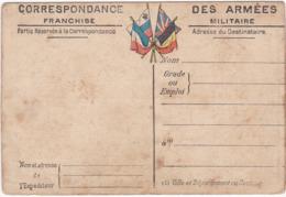 Correspondance Des Armées - Franchise Militaire - Cartes Du Front ARTOIS - PICARDIE N° 2 - Carte Double - - Guerre 1914-18