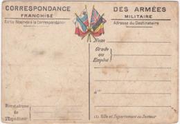 Correspondance Des Armées - Franchise Militaire - Cartes Du Front  AISNE - CHAMPAGNE N° 3 - Carte Double - - Guerre 1914-18