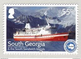 South Georgia 2016 Cruise Ship M/V Lindblad Explorer Off King Edward Point, South Georgia Mountains MNH ** - Géorgie Du Sud