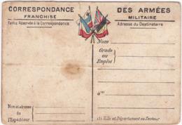 Correspondance Des Armées - Franchise Militaire - Cartes Du Front - PLATEAU De CRAONNE - N°7 - Carte Double - - War 1914-18