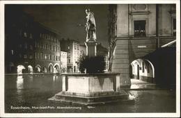 40992321 Rosenheim Bayern Max Josef Platz Brunnen Rosenheim - Duitsland