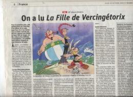 Page Alsace Theme Asterix - Giornali
