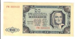 Polonia POLAND 20 ZLOTYCH 1948 PICK#137 Spl Sup LOTTO 2214 - Poland