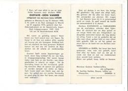DP 8392 - GUSTAVE VANHEE - WERVICQ FR 1909 + WERVIK 1973 - OUD KRIJGSGEVANGENE 1939-1945 - Imágenes Religiosas