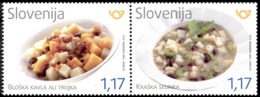 SLOVENIA SLOWENIEN SLOVÉNIE 2019 GASTRONOMY GASTRONOMIA FOOD ** SET ** MNH - Alimentación