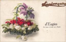 België Frameries  Anniversaire  D' Eugies  Je Vous Envoie Ces Fleurs  Reliëf  M 1358 - Frameries