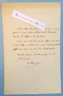 L.A.S Victor De BROGLIE Ancien Président Du Conseil - Lettres En Amérique - Lettre Autographe LAS - Autógrafos