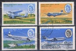 DO 15226 RHODESIE GESTEMPELD YVERT NRS 148/151 ZIE SCAN - Southern Rhodesia (...-1964)