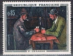 """FRANCE NEUF 1961 - Y&T 1321 - Paul Cezanne (1839-1906) """"The Card Players."""" Musée D'Orsay, NEUF SANS CHARNIÈRE - Unused Stamps"""