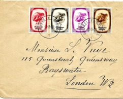 """LE 0297. N° 488-489-490-492 BRUXELLES 1 - 10.3.39 + VIGNETTE 'GRAND MARCHE MONDIAL - FOIRE INTERNATIONALE BRUXELLES"""" - Lettres & Documents"""
