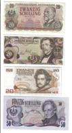AUSTRIA 50 SCHILLING 1970 + 20 1956 1967 1986 LOTTO 2227 - Austria