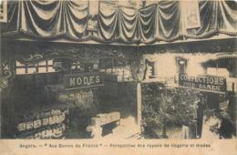 """CPA 49 Maine Et Loire Angers """"Aux Dames De France"""" Perspective Des Rayons De Lingerie Et Modes Confection Magasin - Angers"""