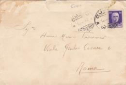 BUSTA VIAGGIATA  - REGNO - CUVIO ( VARESE) - VIAGGIATA PER ROMA - Storia Postale