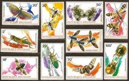 Rwanda Ruanda 1973 Yvertn° 501-510 *** MNH Cote 12,00  € Faune Insecten Insectes - Rwanda