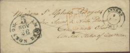 1853 ANVERS Damencouvert In Guter Erhaltung PD U. PAID  In Die USA - Belgien