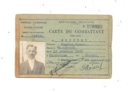 11273 - Carte Du Combattant , Comité Départemental Du CANTAL, Juillet 1928 - Documents