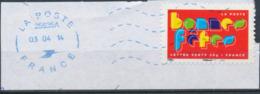 France - Meilleurs Voeux 2012 - YT A769 Obl. Ondulations Et Dateur Rond Bleu Sur Fragment - Adhésifs (autocollants)