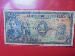 COLOMBIE 1 PESO ORO 1940 CIRCULER (B.9) - Colombia
