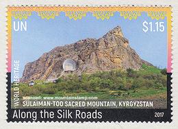 United Nations 2017 Mountains Unesco Sulaiman-Too Sacred Mountain Kyrgyzstan MNH ** - Gemeinschaftsausgaben New York/Genf/Wien