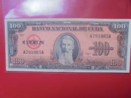 CUBA 100 PESOS 1959 CIRCULER (B.9) - Cuba