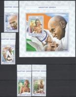 UU623 2017 SIERRA LEONE GREAT HUMANISTS TRIBUTE TO MAHATMA GANDHI SET+BL MNH - Mahatma Gandhi