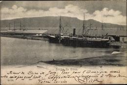 Cp Suez Ägypten, Docks, Steamer - Cartes Postales