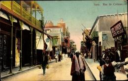 Cp Suez Ägypten, Rue De Colmar - Cartes Postales