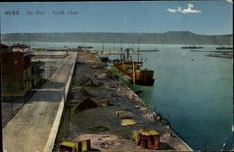 Cp Suez Ägypten, The Port, Tewfik Quay, Steamer - Cartes Postales
