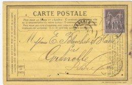 Carte Précurseur Privée Forges Laminoirs De Champigneulles Près Nancy - Postal Stamped Stationery