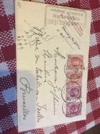 1926 Entier 15c Et 5c + 2x192 De Houdeng Goegnies Leone Douliere Pour Ixelles - Stamped Stationery