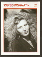 PORTRAIT DE STAR 1990 FRANCE - ACTRICE SOLVEIG DOMMARTIN - ACTRESS CINEMA FILM PHOTO - Fotos