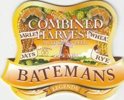 BATEMANS BREWERY (WAINFLEET, ENGLAND) - COMBINED HARVEST - PUMP CLIP FRONT - Uithangborden