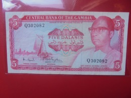 GAMBIE 5 DALASIS 1972-86 SIGN.N°6 CIRCULER (B.9) - Gambia