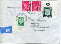 Israele (1976) -  Busta Per La Germania - Israele