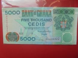 GHANA 5000 CEDIS 2000 PEU CIRCULER (B.9) - Ghana