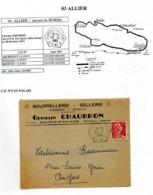 Poste Automobile Rurale De L'Allier Circuit De Huriel CP N°2 St Palais - Cachets Manuels