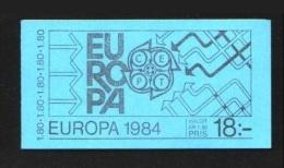 Suede Sweden Carnet Booklet Europa 1984 - Europa-CEPT