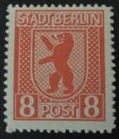1945  Berlin Und Brandenburg - Berliner Bär Und Eiche Zähnung Zickzackförmig Mi.3B**) - Sowjetische Zone (SBZ)