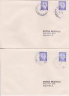 SRI LANKA CEYLON CEYLAN Lot 2 Enveloppes Kandy + Galle TPO 2003 Travelling Post Office Railway Cachet Poste Ferroviaire - Sri Lanka (Ceylan) (1948-...)