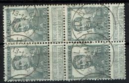 115 Bloc 4  Obl Relais  Schilde  8 X 4 - 1912 Pellens